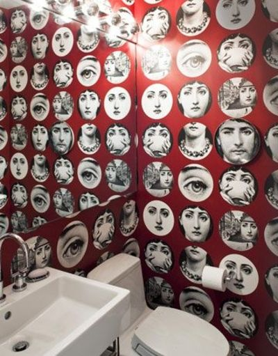 absolutely LOVE this Fornasetti tema e variazioni design wallpaper 400x511