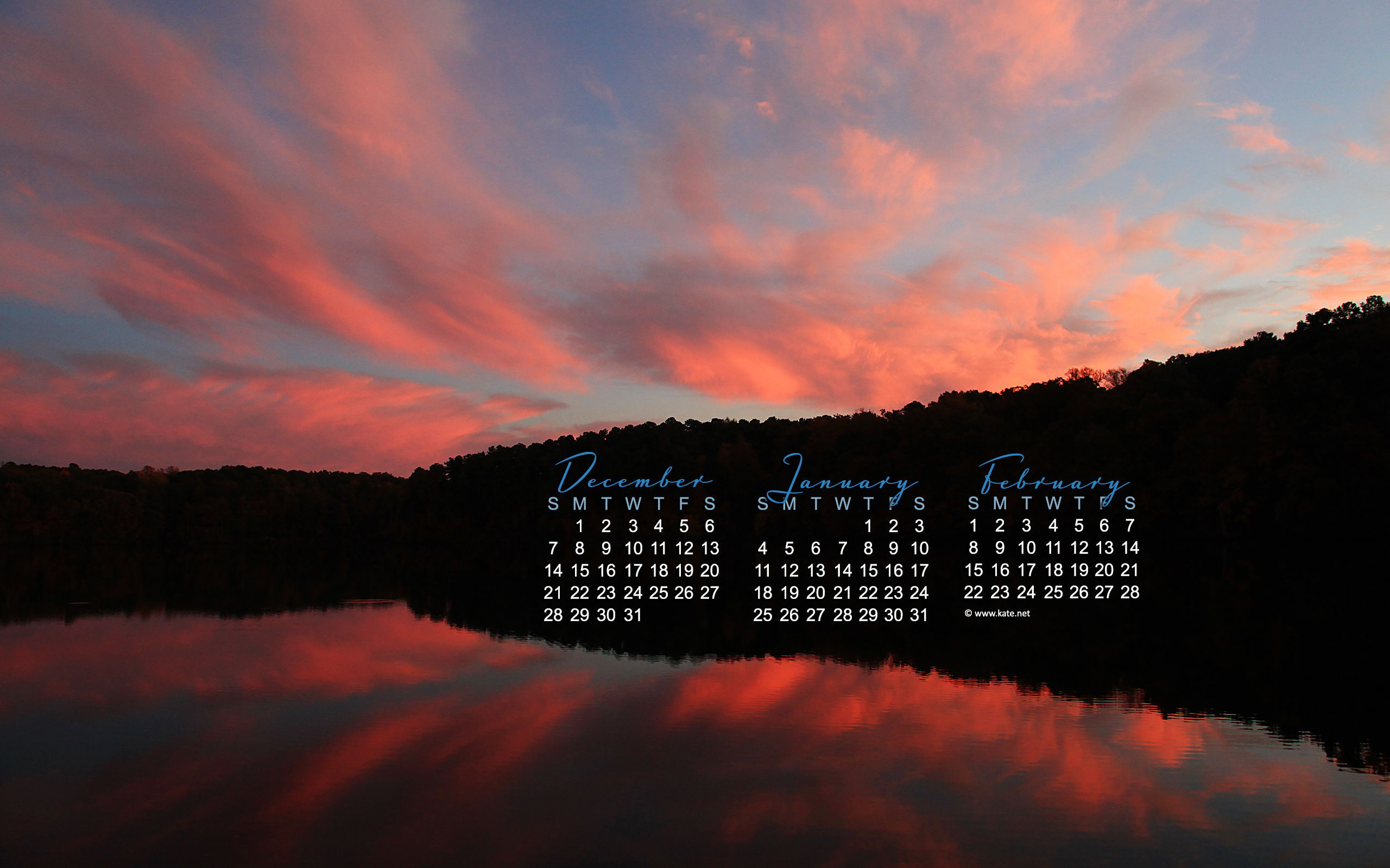 january calendar wallpaper sunset photo wallpaper kate net created 01 2560x1600