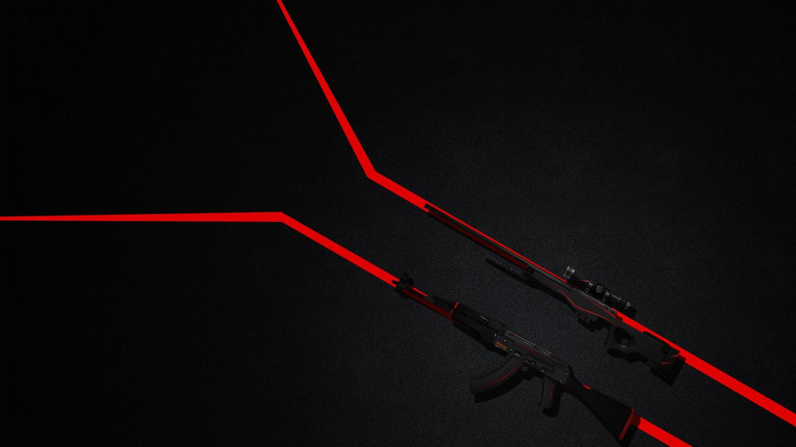 Ak 47 and awp redline csgo wallpaper 1920x1080 1600x900