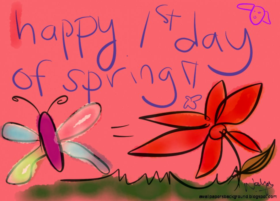 Happy First Day Of Spring Wallpapers Background 972x698