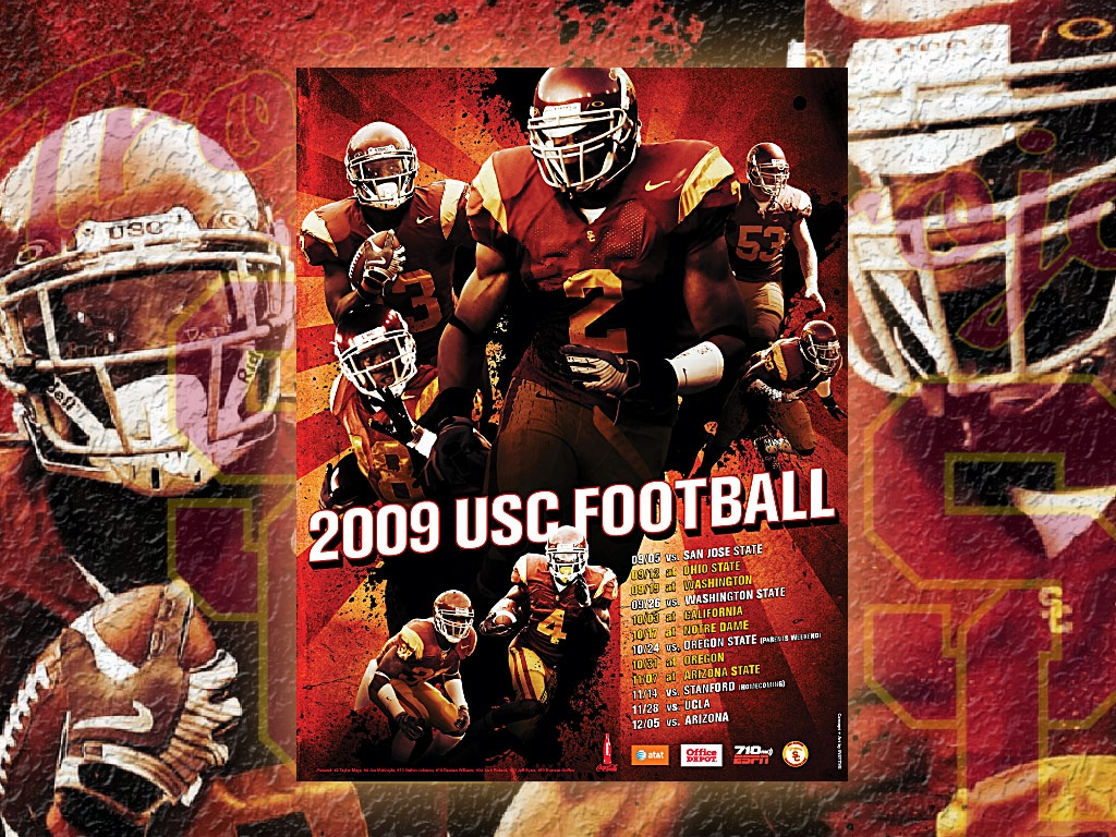 2009 USC FOOTBALL SCHEDULE Desktop Background 1024x768