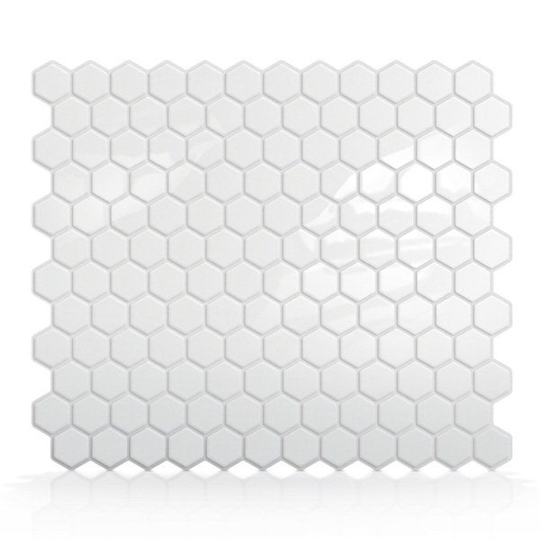 Smart Tiles SM1038 Hexago Self Adhesive Wall Tile Lowes Canada 600x600