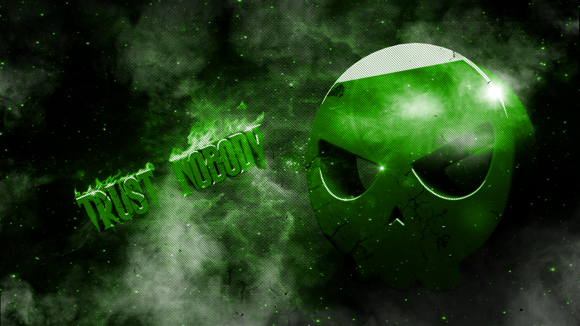 The gallery for   gt Green Flame Skull Wallpaper 1920x1080