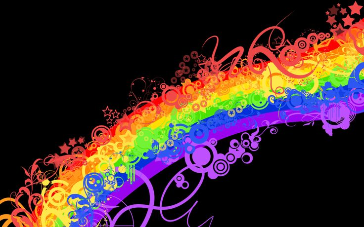 Free Download Find Out Dark Rainbow Vector Wallpaper On