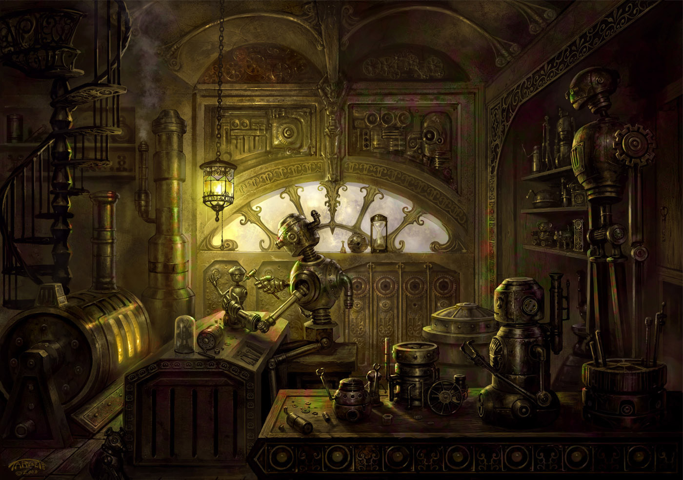 The Tin Tin Maker   Fantasy IllustrationsCoolvibe Digital Art 1400x984