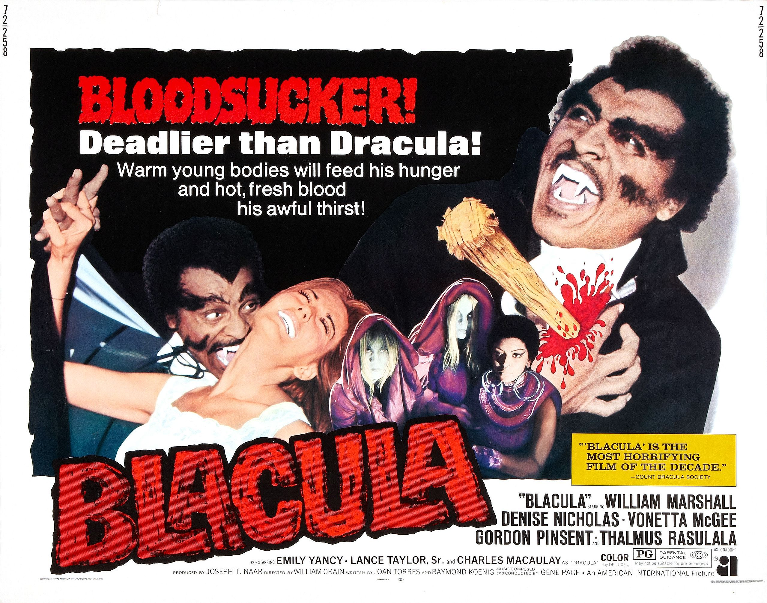 blacula poster 02 Pow Bam Wows Blaxploitation Theater Movie 2558x2012