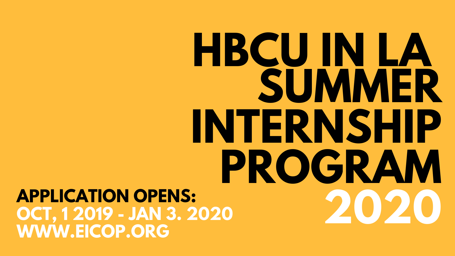 HBCU in LA Internship Program EICOP 1920x1080