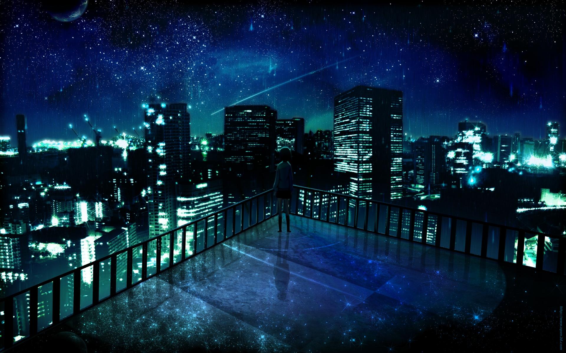 Image   Wallpaper manga 1920x1200 night cityjpg   Bleach Fan Fiction 1920x1200