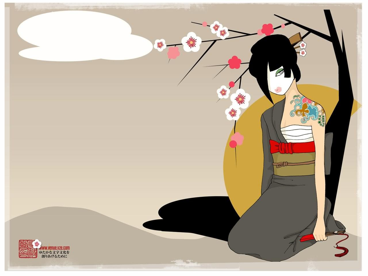 Geisha Wallpaper Wallpaper Collective 1280x960