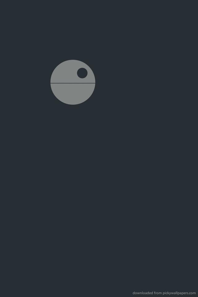 Death Star Phone Wallpaper Minimal death star for iphone 640x960