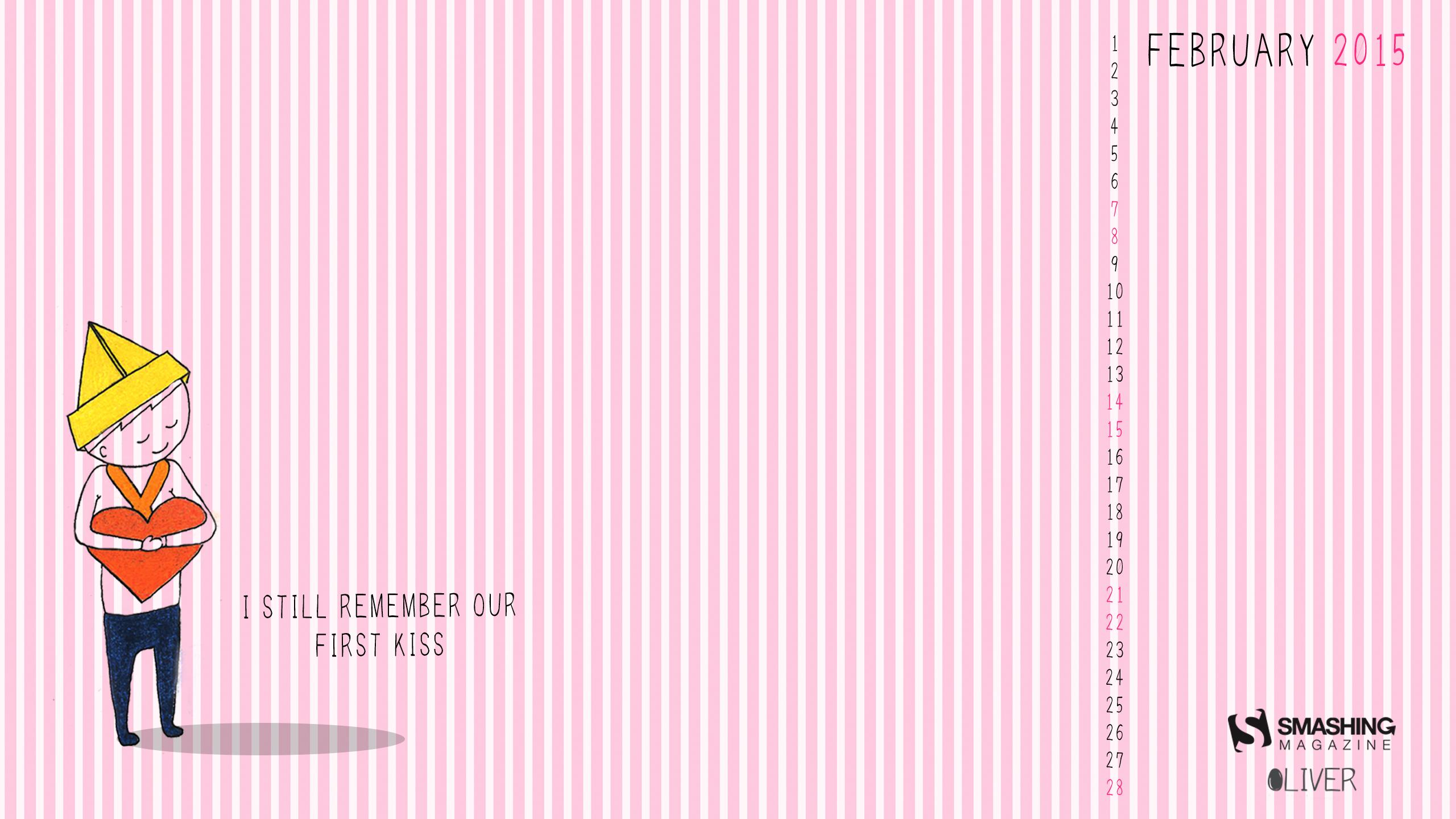 Desktop Wallpaper Calendars February 2015   Print2Web 2560x1440