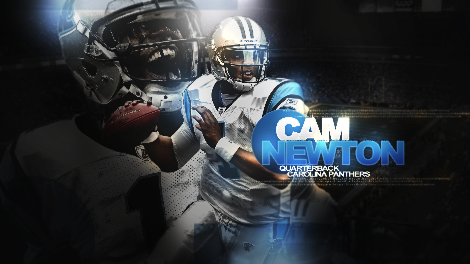 Cameron Jerrell Newton is a quarterback for the Carolina Panthers of 1600x900