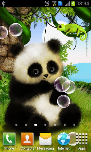 Download Animated Panda Live Wallpaper For Android By SoftwareAMAX 307x512