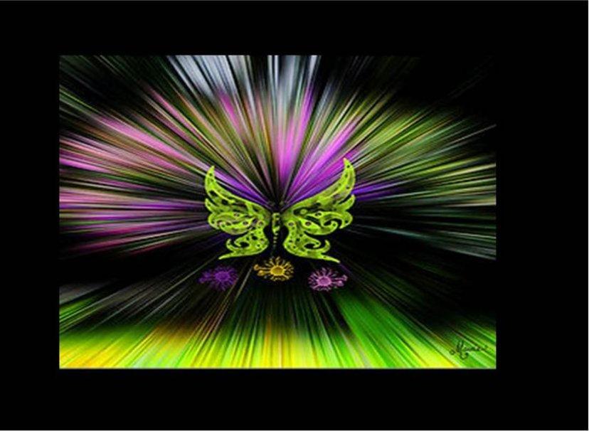 [39+] Neon Butterfly Wallpaper on WallpaperSafari