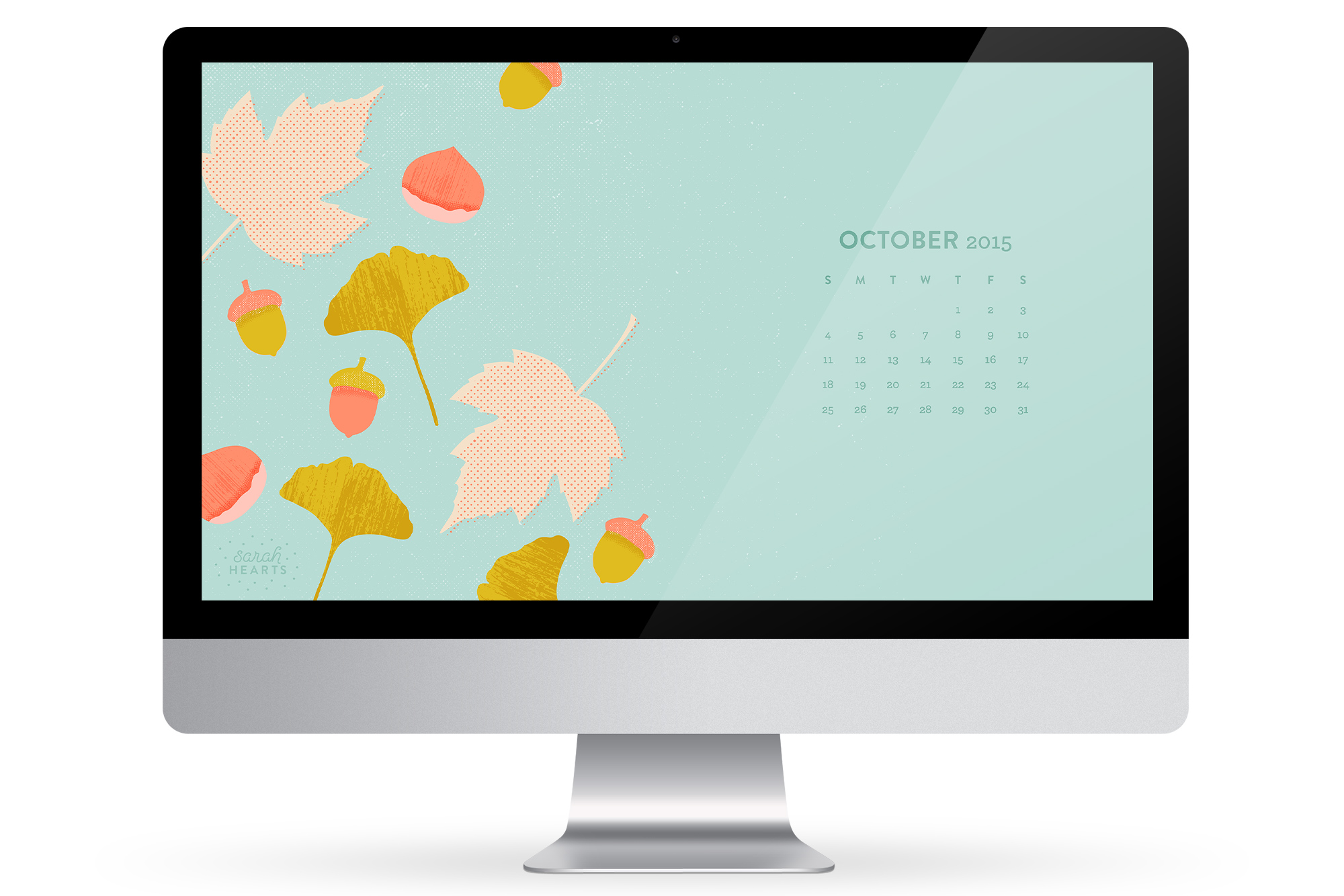 fall to your desktop with this October 2015 calendar wallpaper 2000x1334