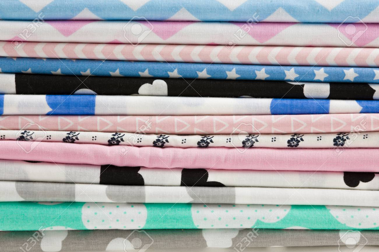 Stack Of 100 Cotton Fabric Material For Tailor Or Homework 1300x866
