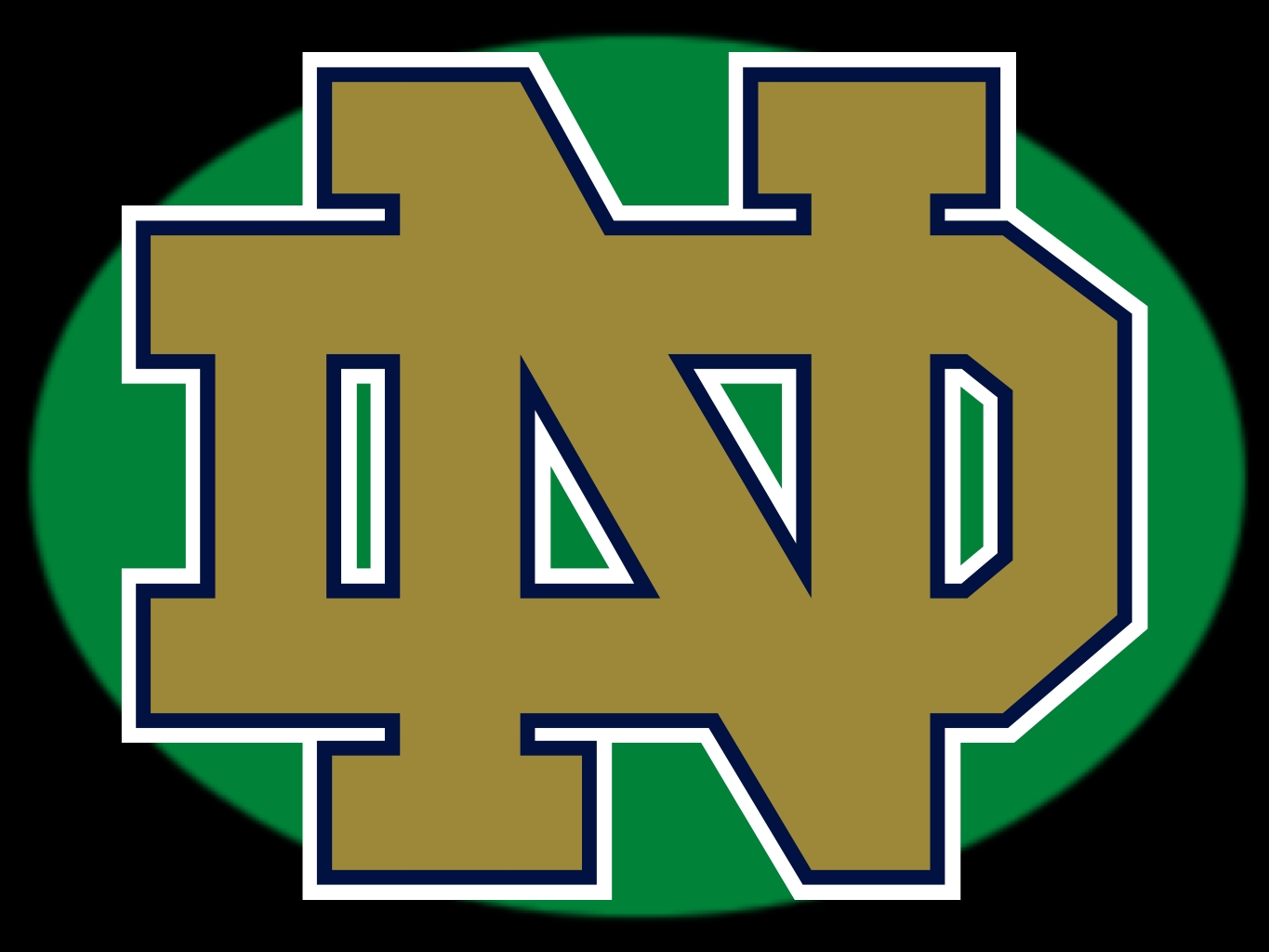 Notre Dame Football Logo Notre dame fighting irish 1365x1024