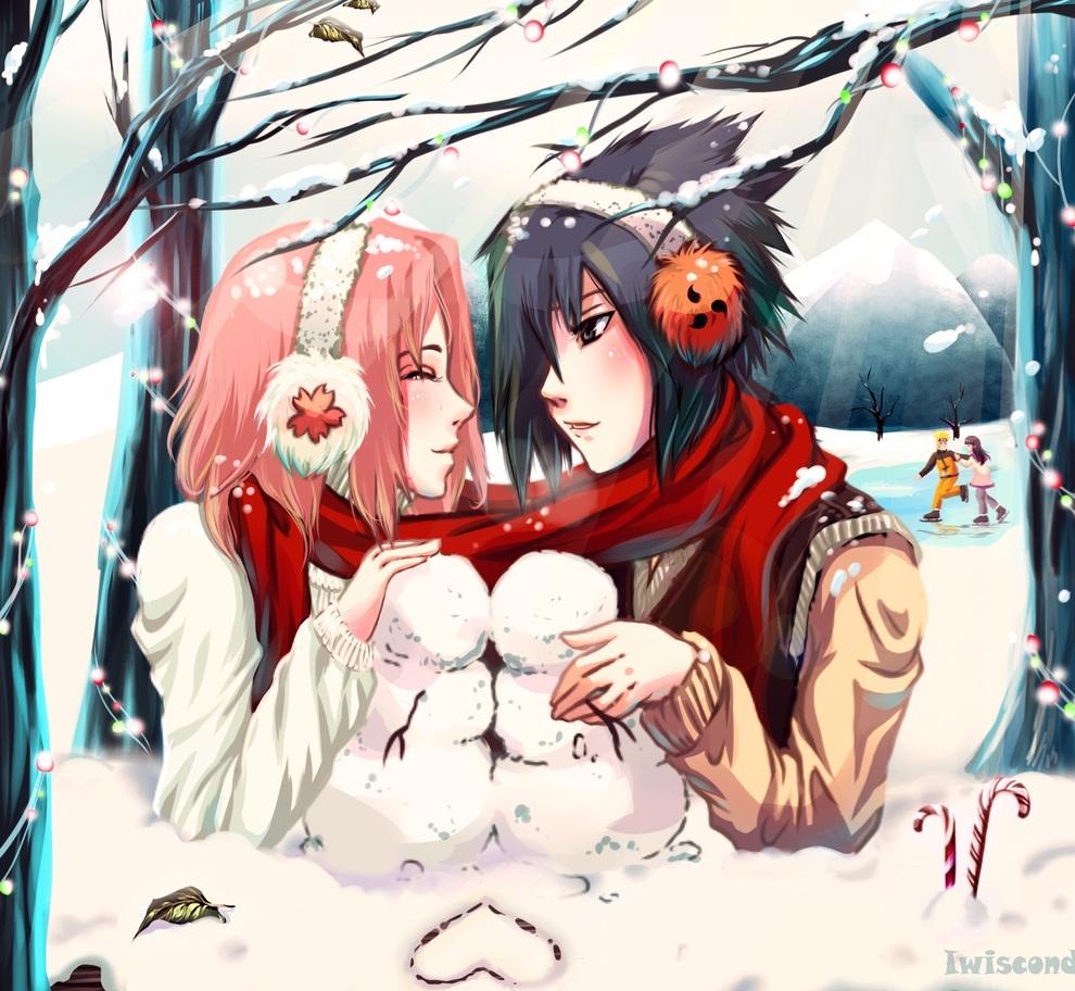 Anime Weihnachten Bilder.67 Naruto Christmas Wallpaper On Wallpapersafari