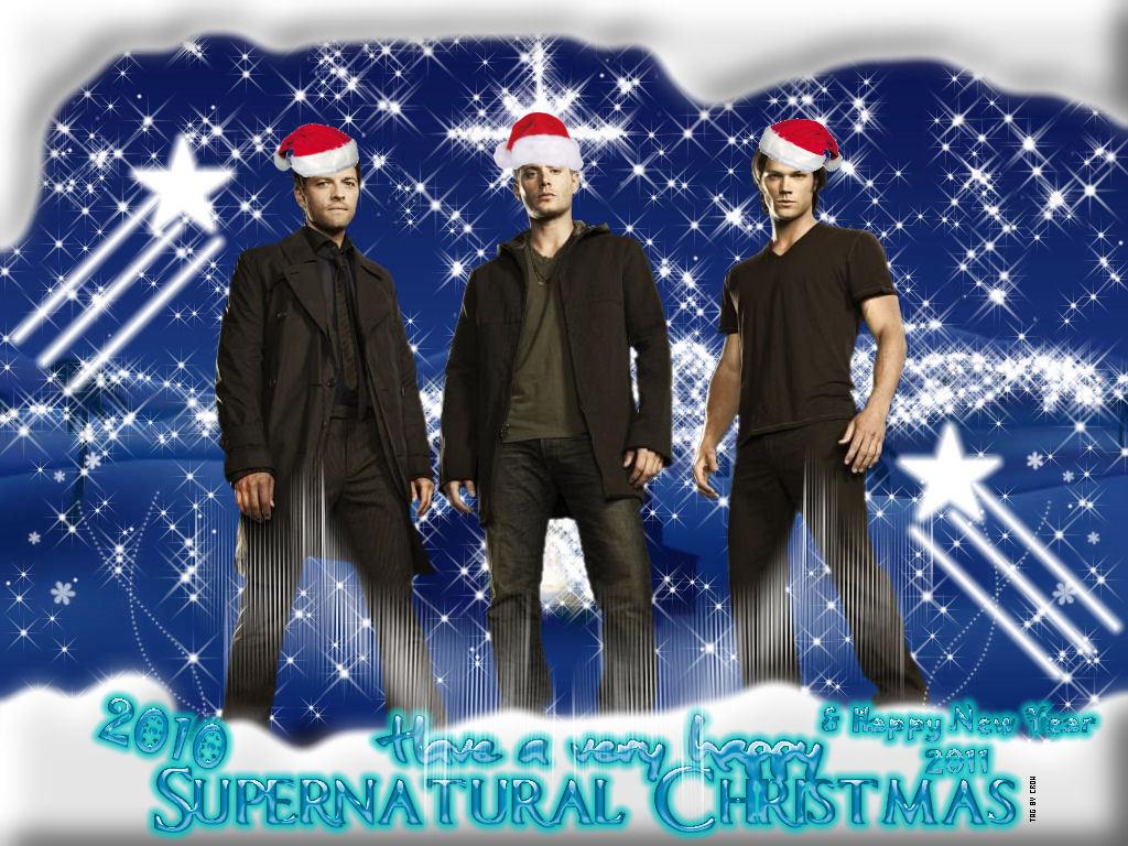 Supernatural Christmas Happy New Year   Supernatural Wallpaper 1024x768