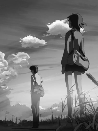 5 Centimeters Per Second screensaver for Amazon Kindle 3 375x500