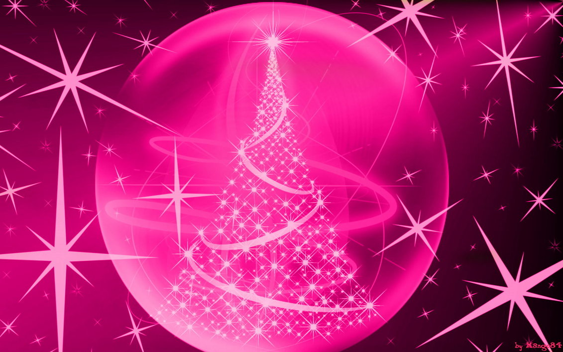 Christmas lights in pink by Mango84 1131x707