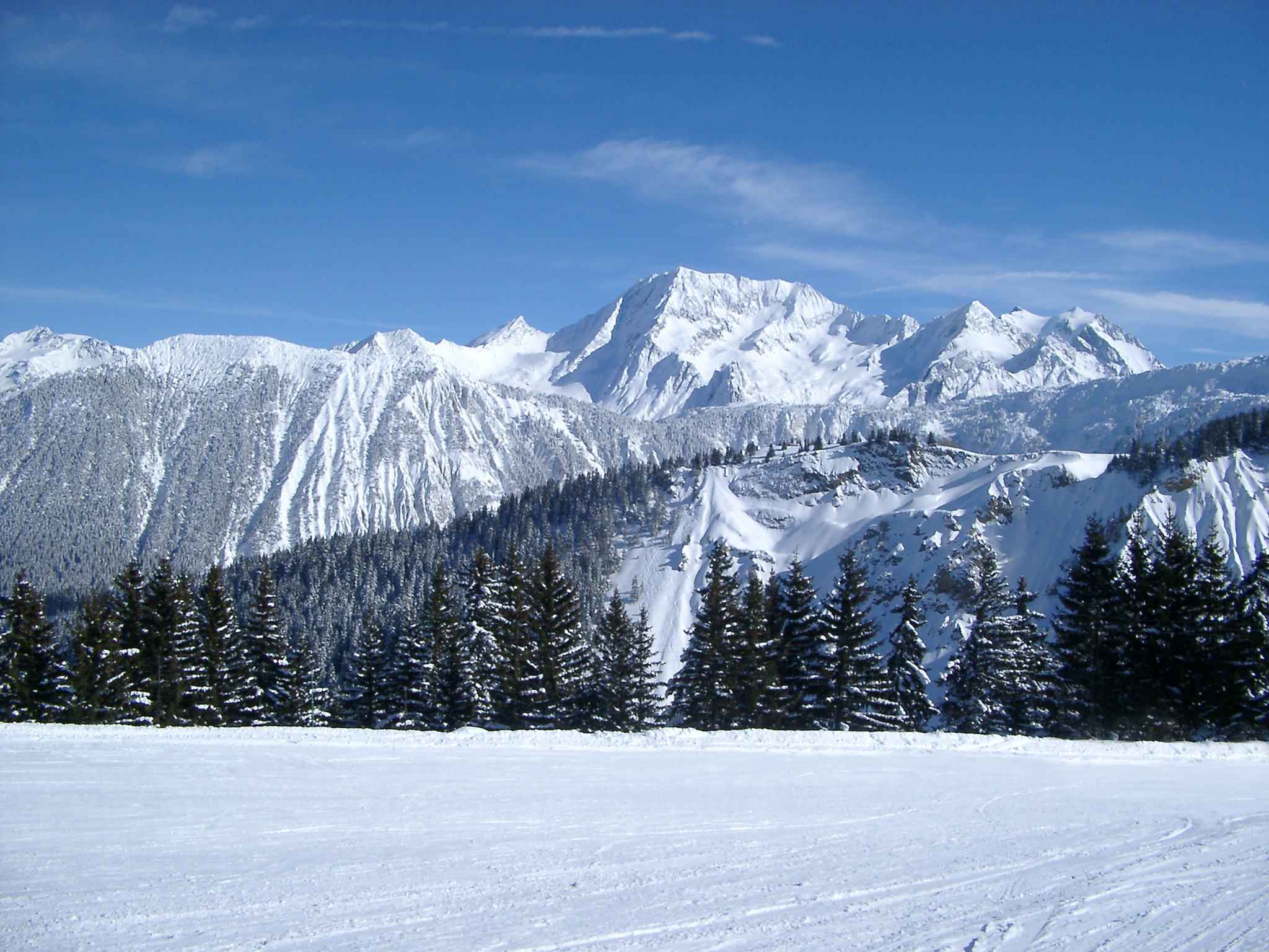 Mountain Snow Scene Winter Snow Wallpapers 2048x1536