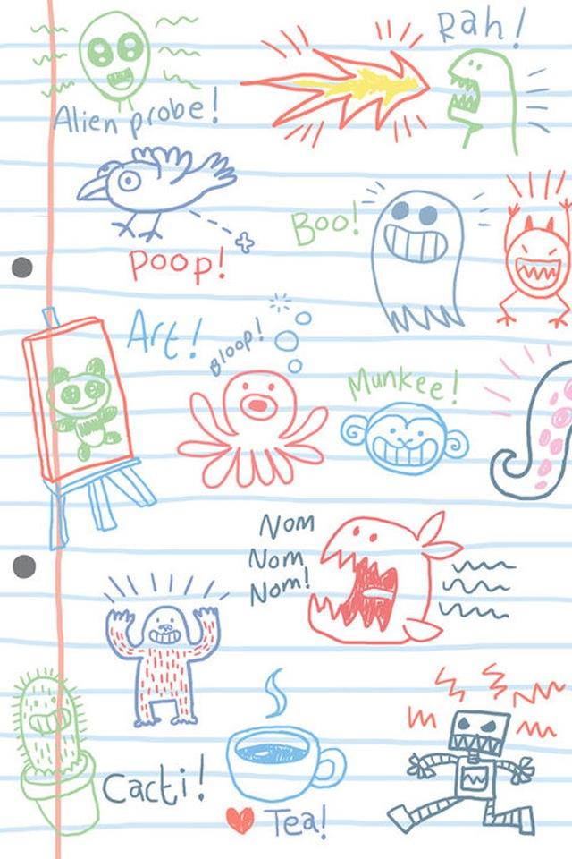 72+ Doodle Wallpaper on WallpaperSafari