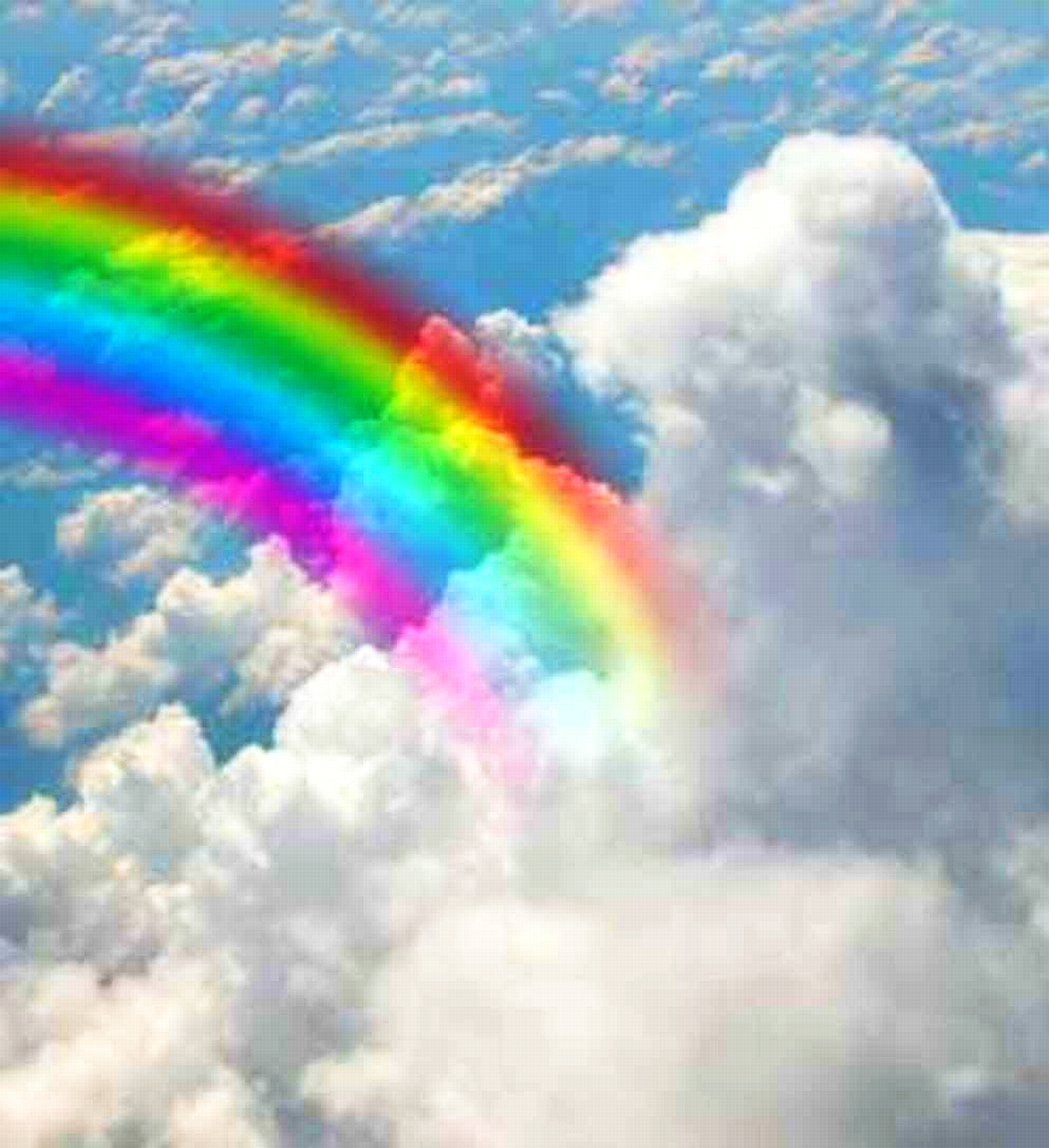 blue cloud with rainbow wallpaper - photo #12