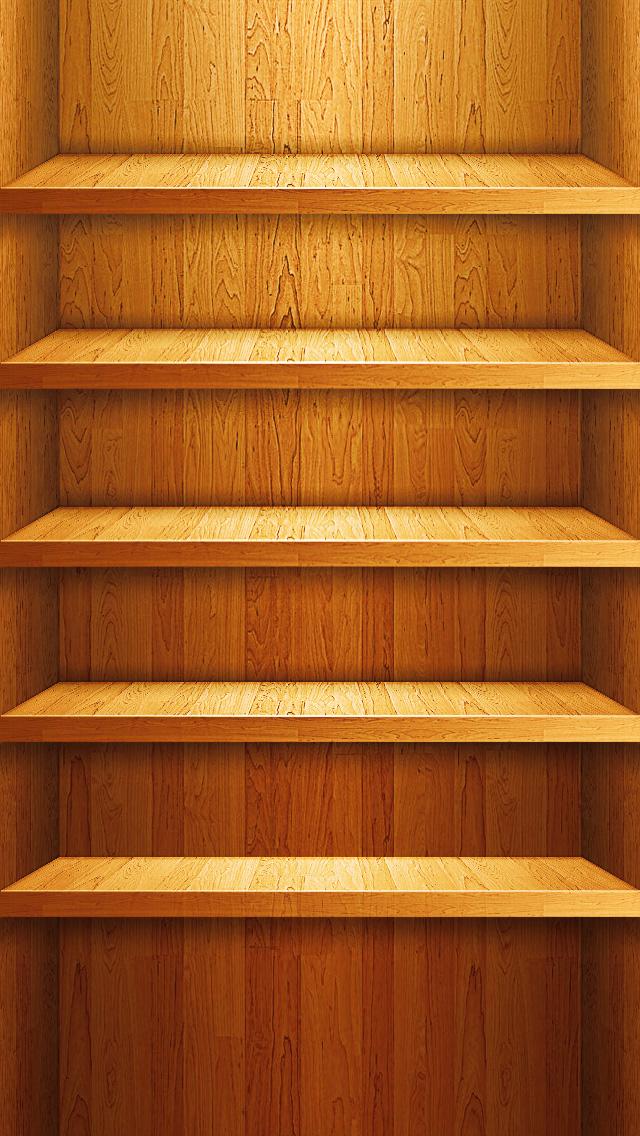 iPhone 5 Shelf Wallpaper 640x1136