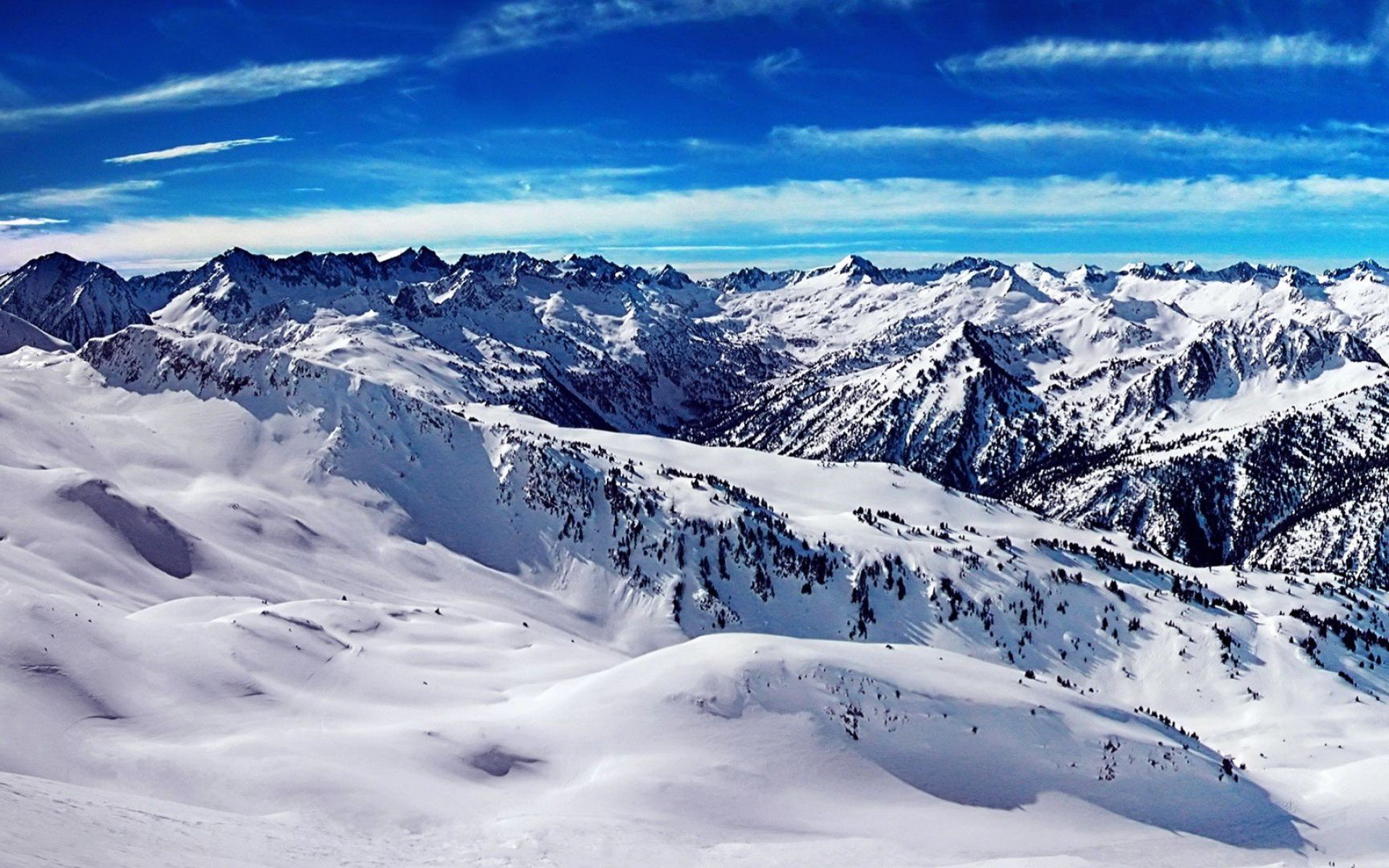 mountains Landscape Nature Mountain Winter Snow Wallpapers HD 1920x1200