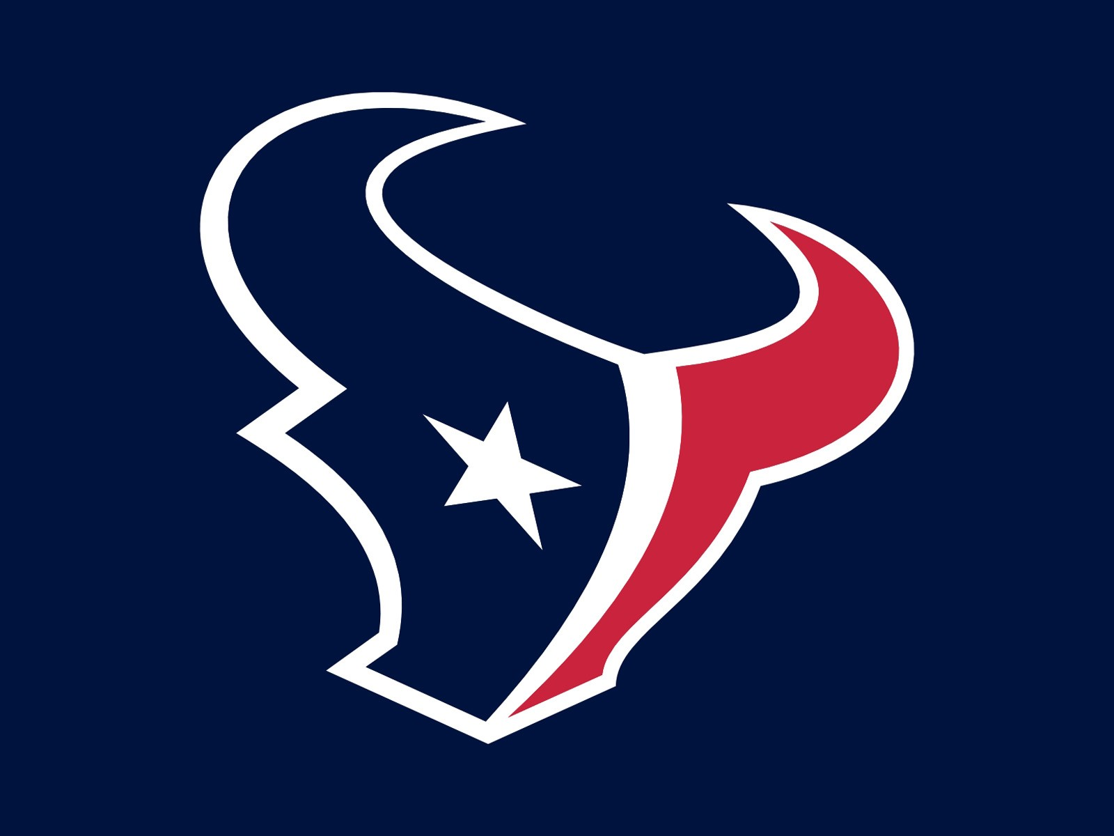 Houston Texans Team Logo Blue 1600x1200 STANDARD Image Sports NFL 1600x1200