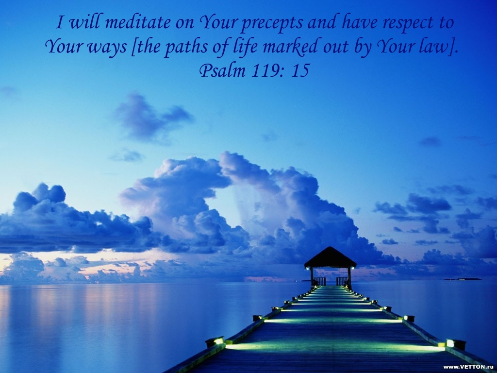 Christian Wallpapers Psalm 119 15 1024x768