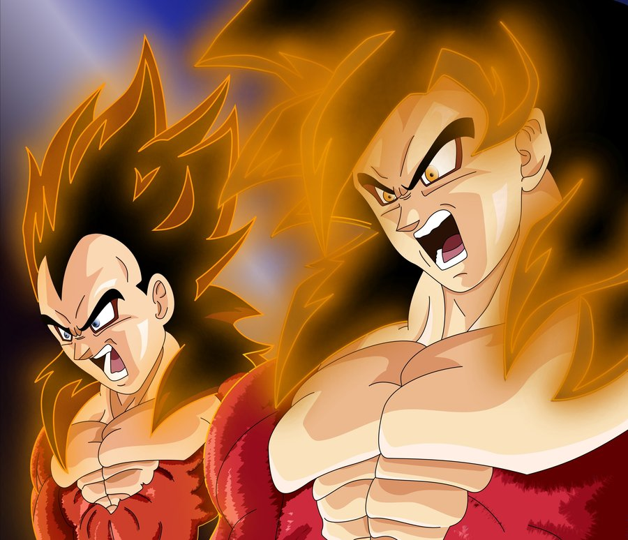 Free Download Goku And Vegeta Ssj4 By Tallinlevai 900x774 For