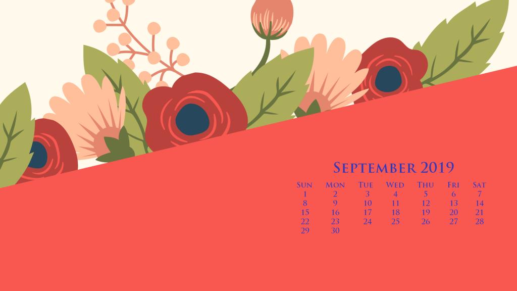 September 2019 Calendar Wallpaper Desktop and iPhone 1024x576