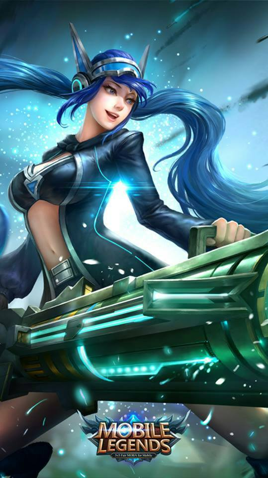 Wallpaper HD Mobile Legends Hero Layla Skin Classic Malefic Gunner 539x960