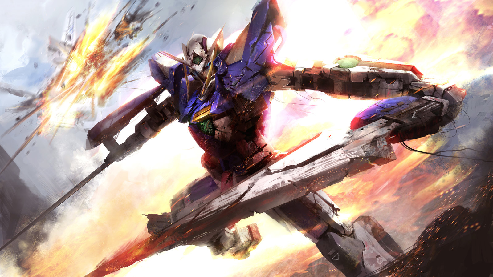 Gundam Exia exterminate the targets wallet by 1600x900