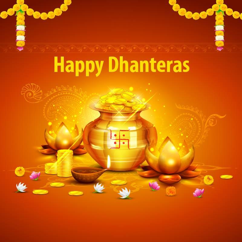 Happy Dhanteras Greetings Facebook Status Whatsapp 800x800