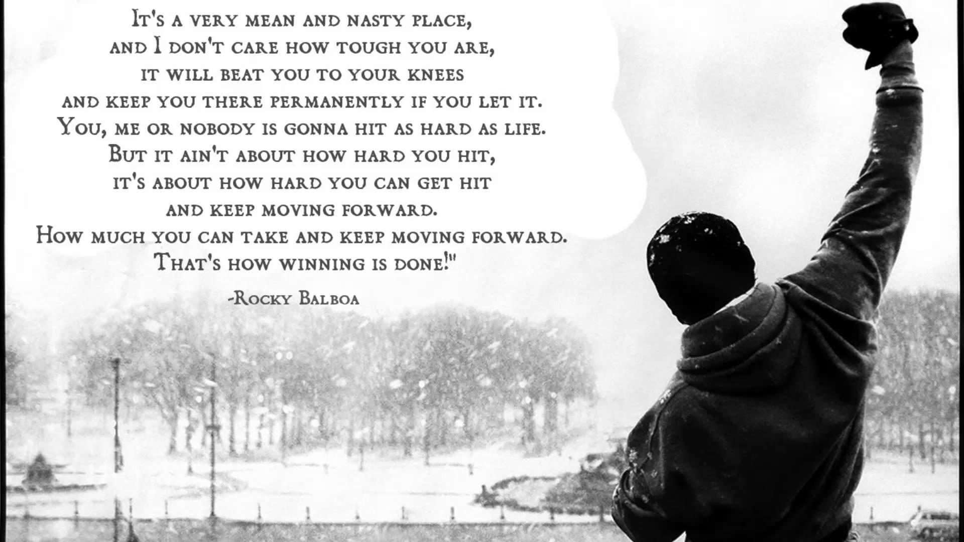 Rocky   Rocky Balboa Movie Quote HD Wallpaper Background Image 1920x1080
