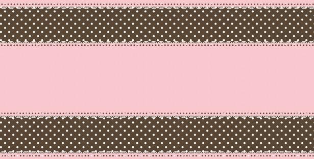 Pink And Brown Polka Dot Border Lace polka dots border 615x312