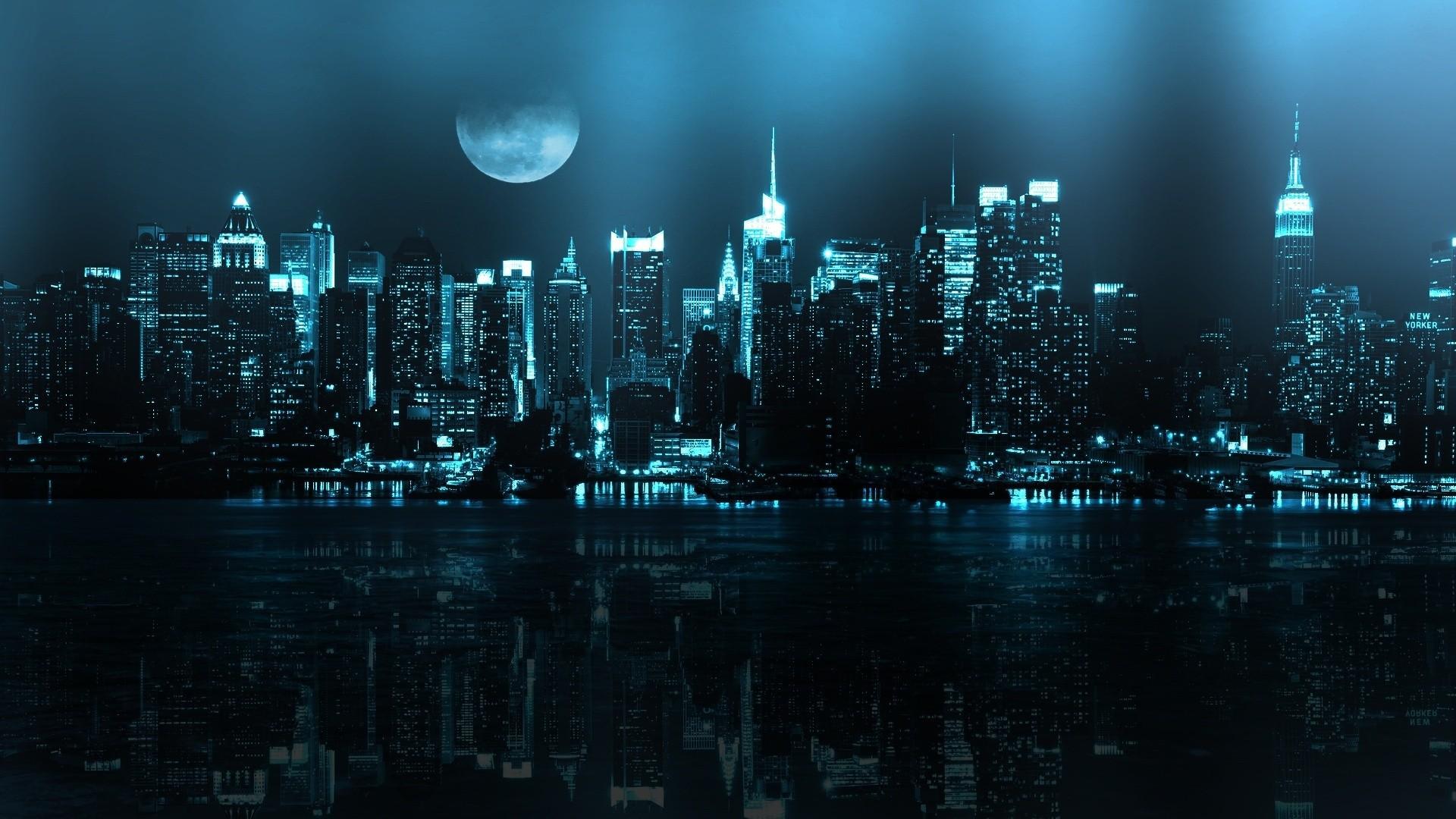 Город ночь небо  № 3705736 бесплатно