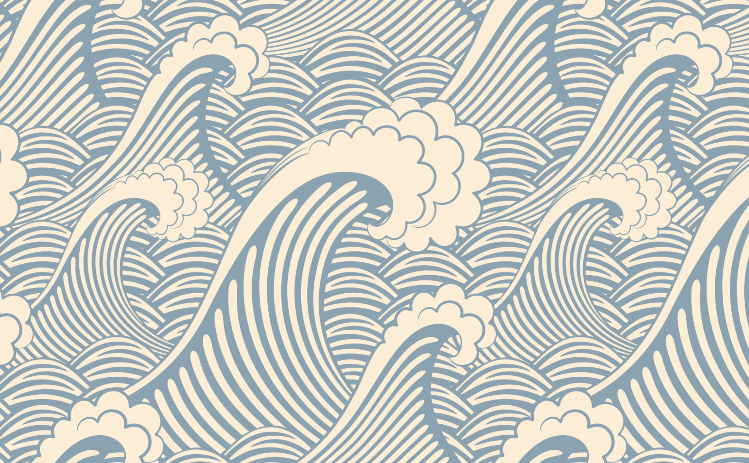 Nautical Waves Wallpaper for Walls Waves of Chic 3028x1872