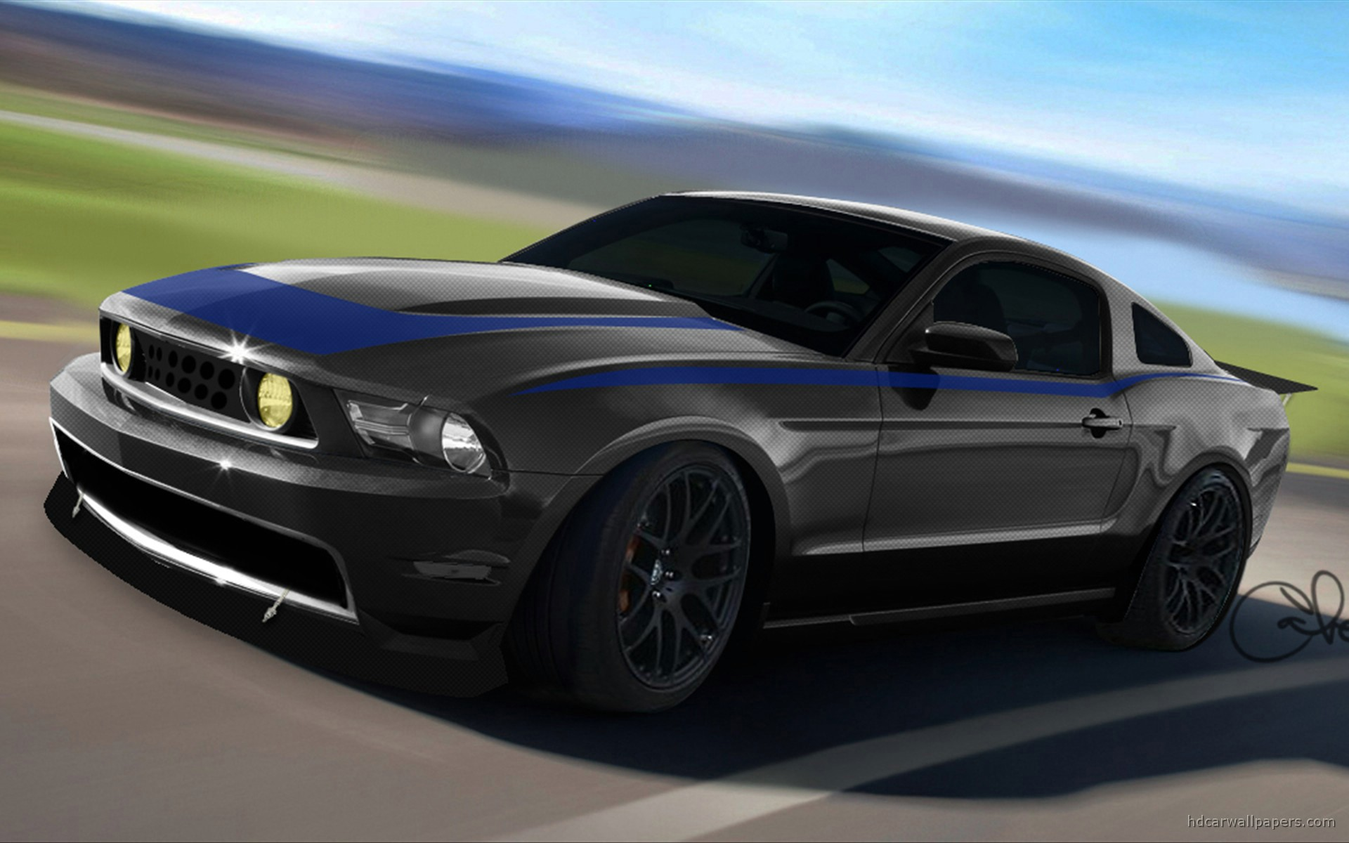 Mustang Black Wallpaper Hd 2010 ford mustang at sema 2009 4 wallpapers 1920x1200