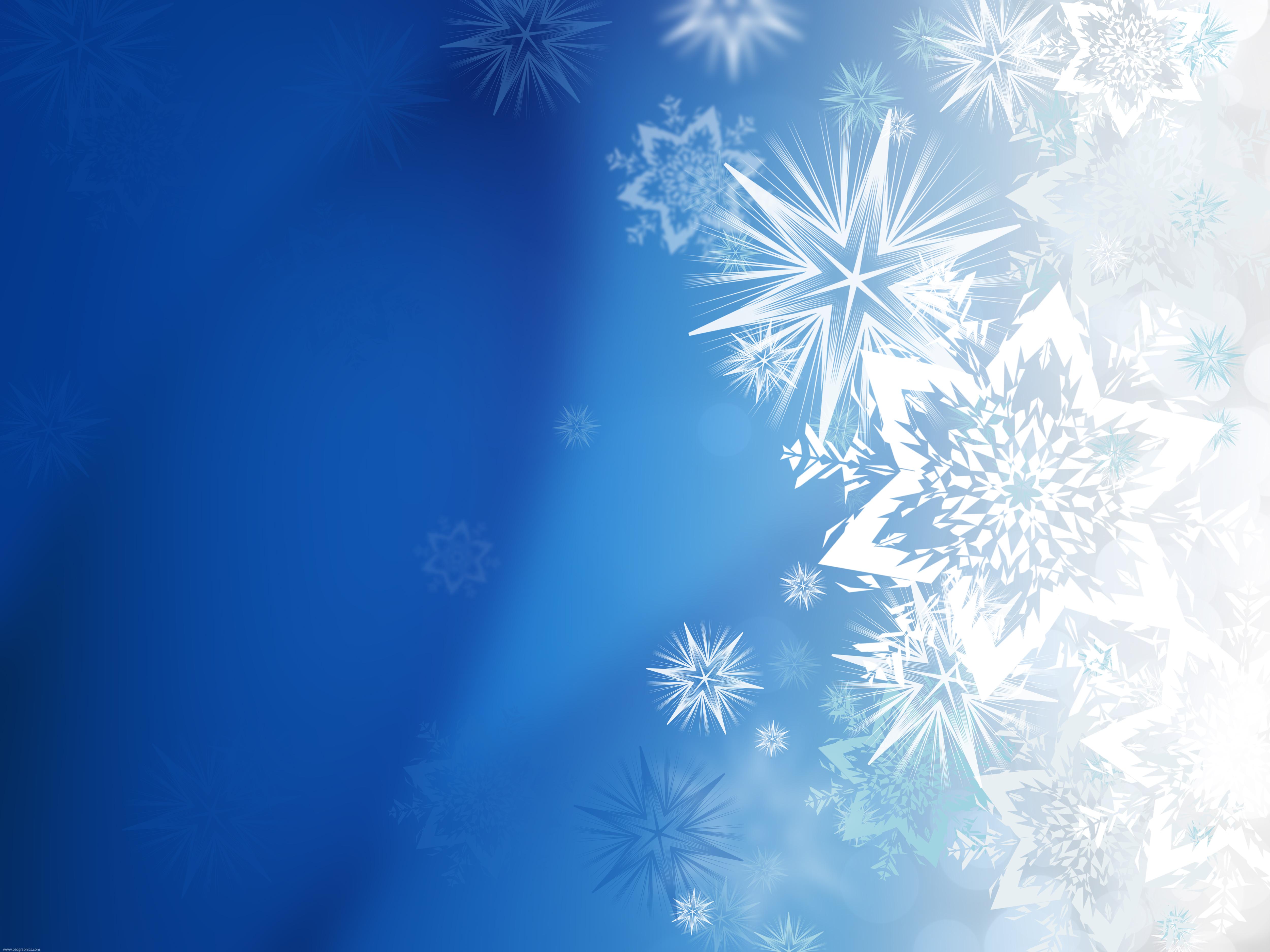 Magic winter snowflakes PSDGraphics 5000x3750