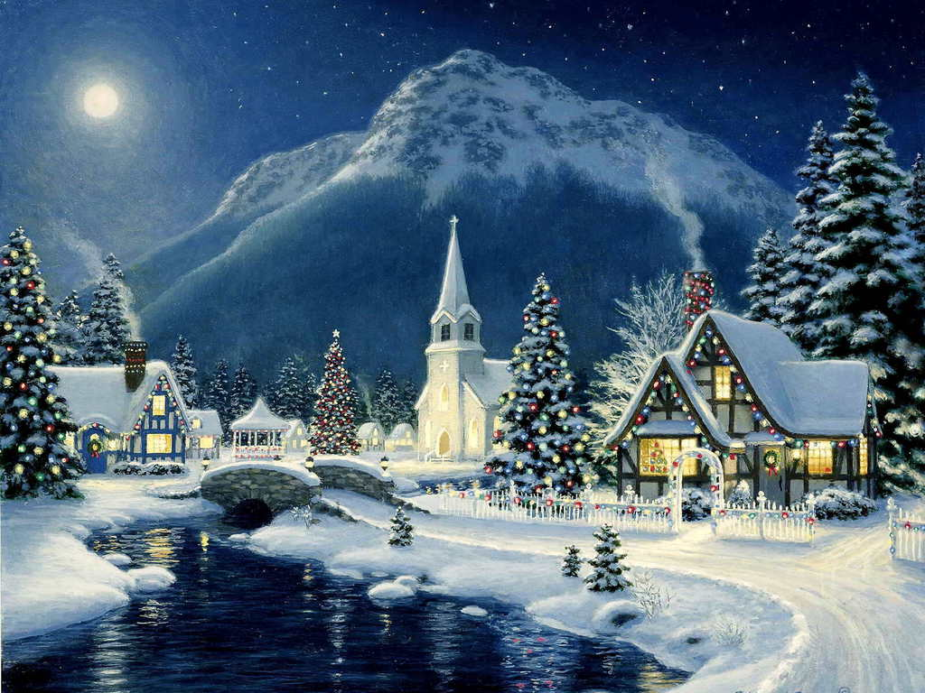Beautiful Christmas Scene   Christmas Wallpaper 40690049 1024x768