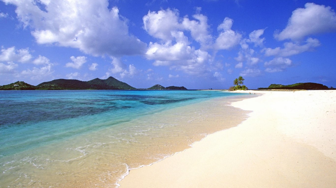Desktop Background Calm Beach PC Android iPhone and iPad Wallpapers 1366x768