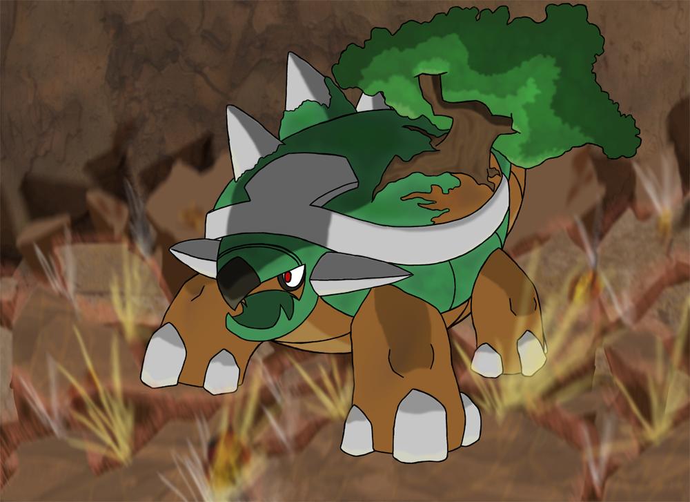 Free Download Favourite Grass Type Pokemon Torterra By Kumata