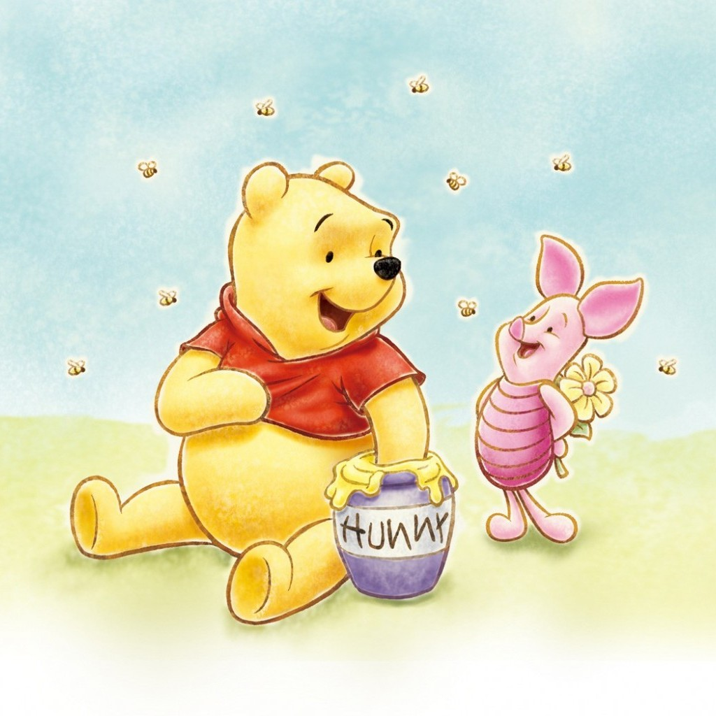 baby winnie the pooh wallpaper wallpapersafari. Black Bedroom Furniture Sets. Home Design Ideas