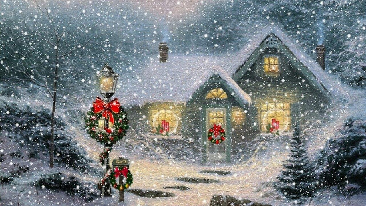 Thomas Kinkade Christmas Wallpaper Desktop Wallpapers HD 1280x720