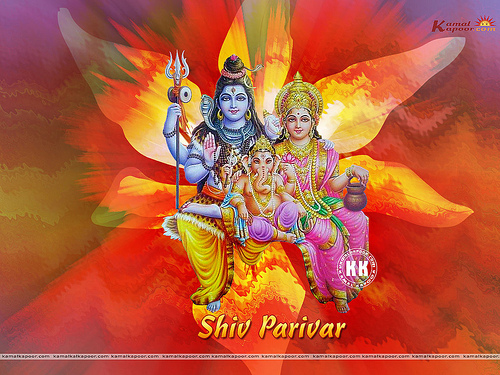 free Indian God Shiv parivar Wallpapers Flickr   Photo Sharing 500x375
