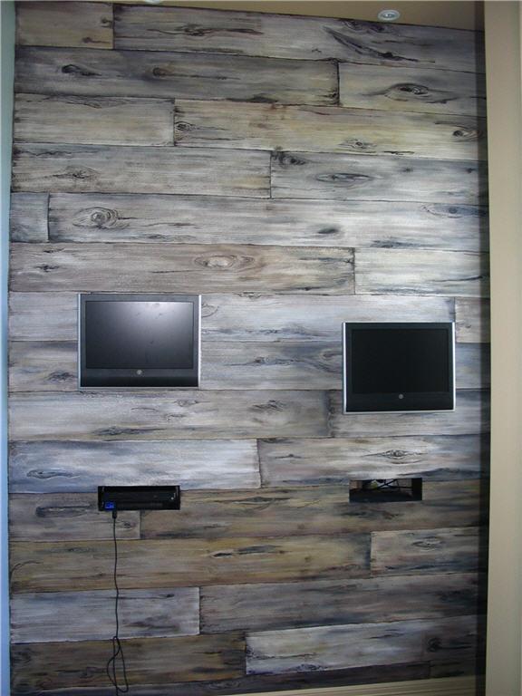 Barn Board Accent Wall 576x768